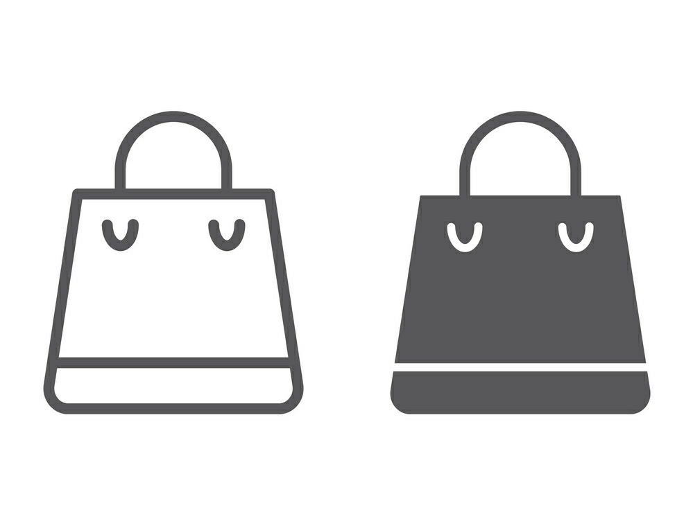 Download Free Shopping Bag Line And Glyph Graphic By Anrasoft Creative Fabrica for Cricut Explore, Silhouette and other cutting machines.