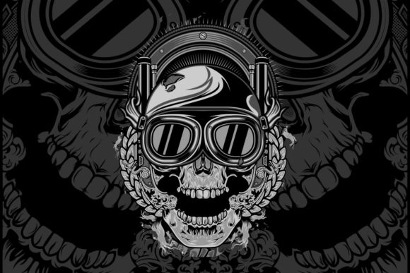 Download Free Skull Wearing A Helmet Graphic By Epic Graphic Creative Fabrica SVG Cut Files
