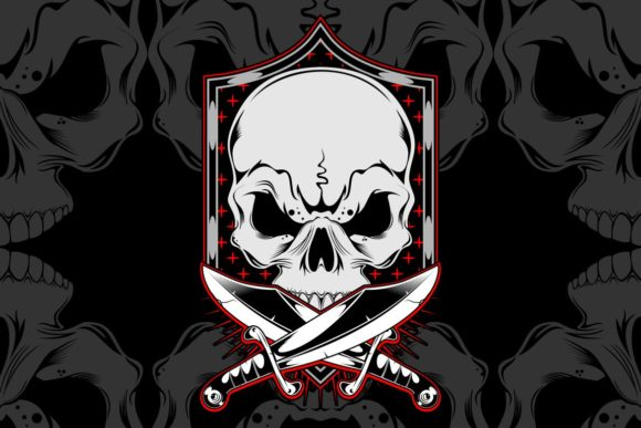 Skull With Cross Sword Graphic By Epic Graphic Creative Fabrica