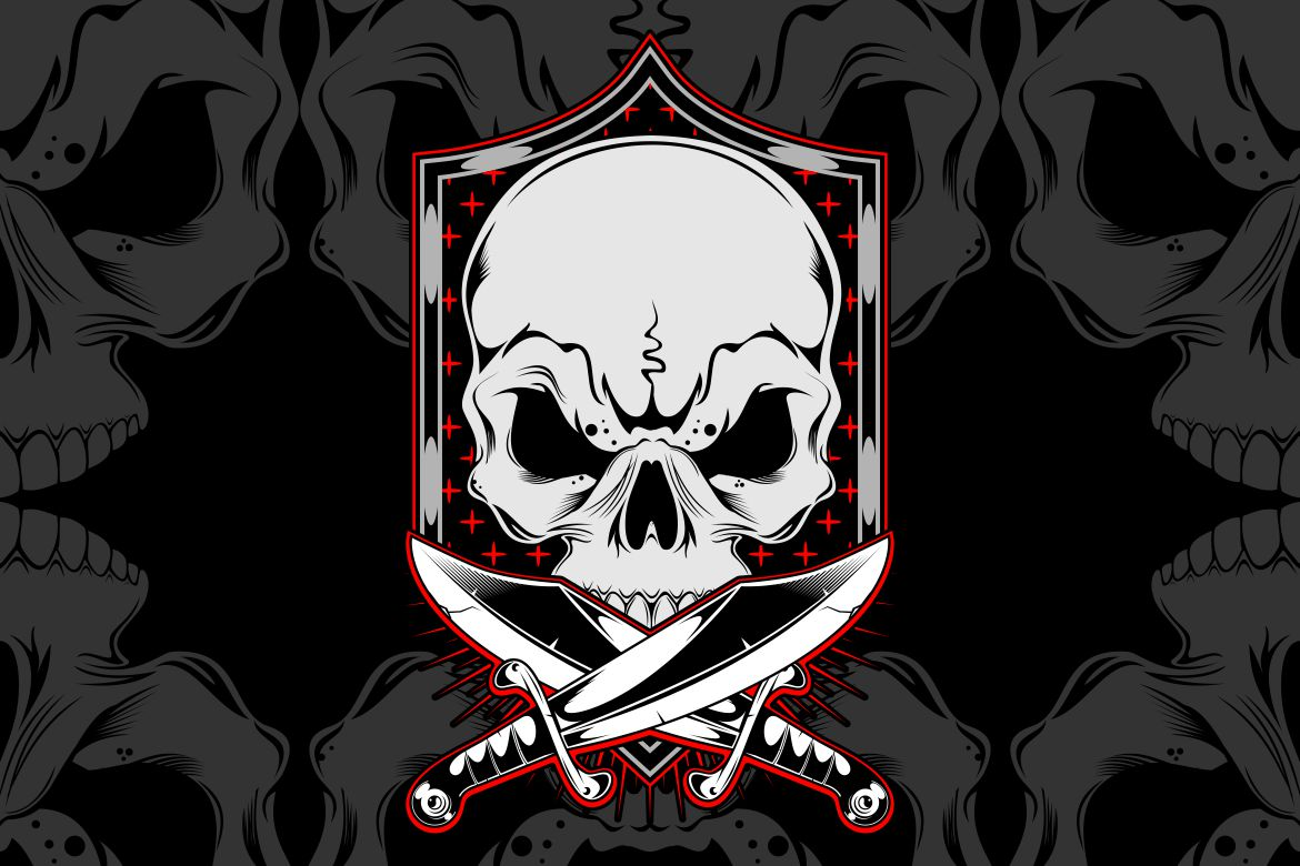 Download Free Skull With Cross Sword Graphic By Epic Graphic Creative Fabrica SVG Cut Files