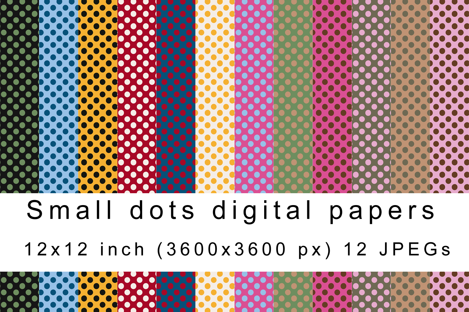 Download Free Small Dots Digital Papers Graphic By Andrea Kostelic Creative for Cricut Explore, Silhouette and other cutting machines.