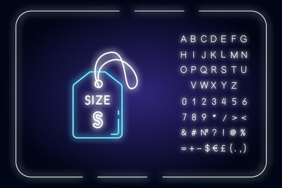 Print on Demand: Small Size Label Neon Light Icon Graphic Icons By bsd studio