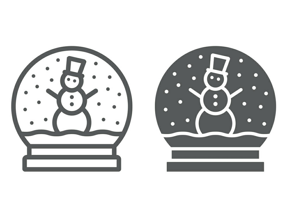Download Free Snow Globe Line And Glyph Icon Graphic By Anrasoft Creative SVG Cut Files