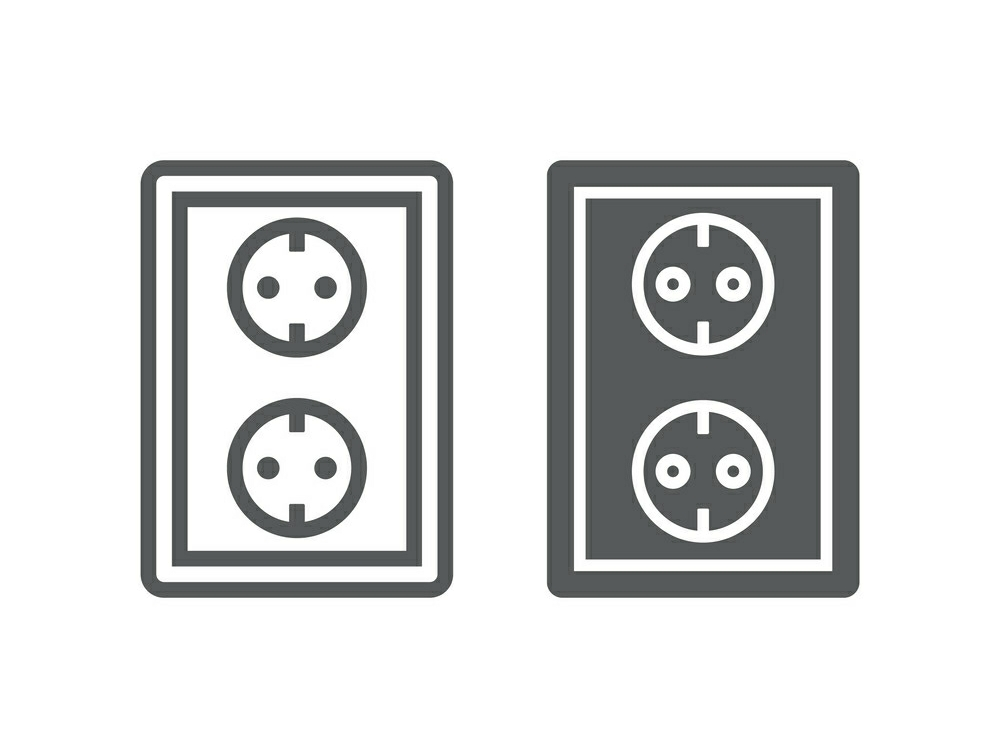 Download Free Socket Line And Glyph Icon Graphic By Anrasoft Creative Fabrica SVG Cut Files