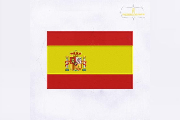 Spain Flag Europe Embroidery Design By RoyalEmbroideries