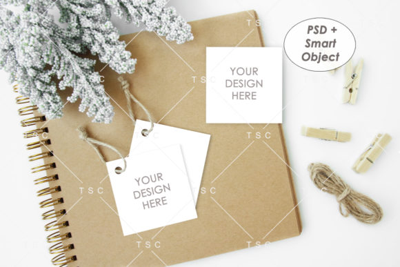 Download Free Square Tag Mockup Graphic By Thesundaychic Creative Fabrica for Cricut Explore, Silhouette and other cutting machines.