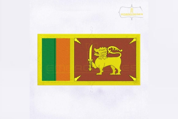 Sri Lanka Flag Asia Embroidery Design By RoyalEmbroideries