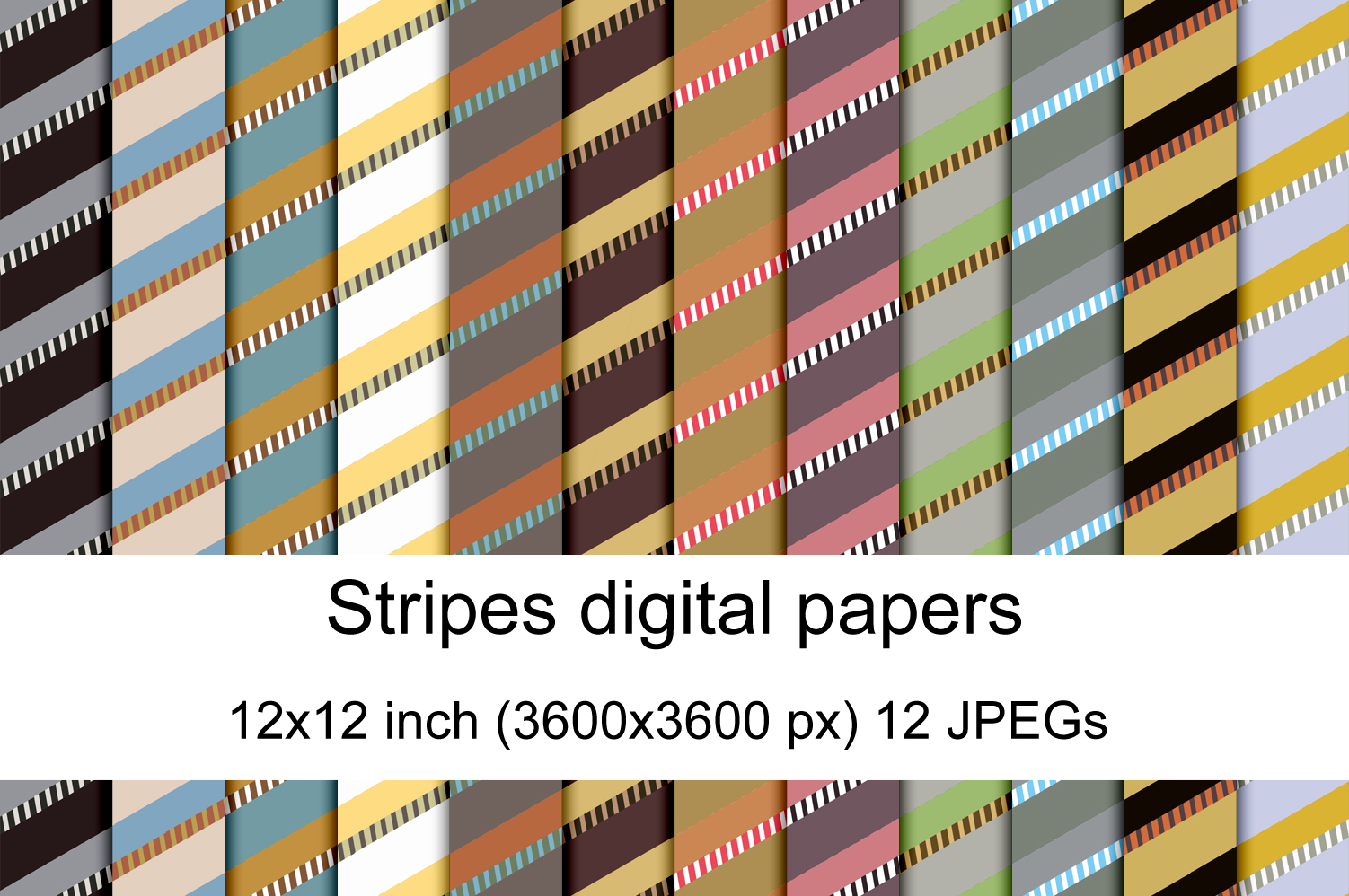 Download Free Stripes Digital Papers Graphic By Andrea Kostelic Creative Fabrica for Cricut Explore, Silhouette and other cutting machines.