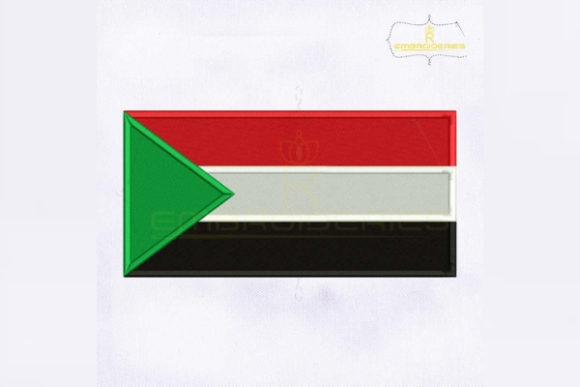 Sudan Flag Africa Embroidery Design By RoyalEmbroideries