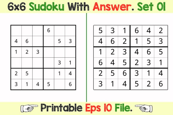 Sudoku Puzzle Activity Games for Kids Graphic KDP Interiors By PatternFeed