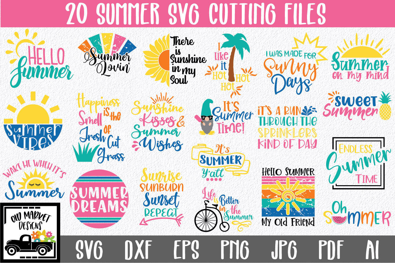 Download Free Summer Bundle Graphic By Oldmarketdesigns Creative Fabrica SVG Cut Files