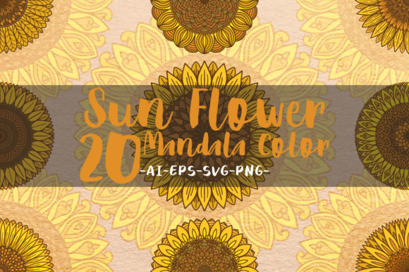 Print on Demand: Sunflower Mandalas Color Graphic Crafts By Bayu Baluwarta
