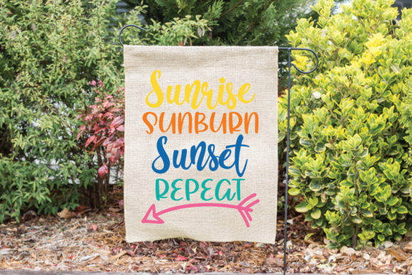 Download Free Sunrise Sunburn Sunset Repeat Graphic By Oldmarketdesigns for Cricut Explore, Silhouette and other cutting machines.