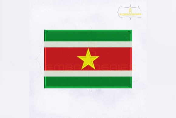 Suriname Flag South America Embroidery Design By RoyalEmbroideries