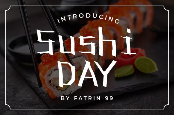 Print on Demand: Sushi Day Display Font By fatrin99art