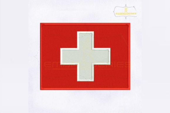 Switzerland Flag Europe Embroidery Design By RoyalEmbroideries