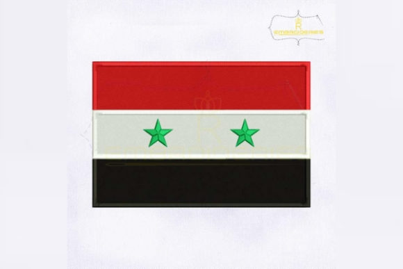 Syria Flag Asia Embroidery Design By RoyalEmbroideries