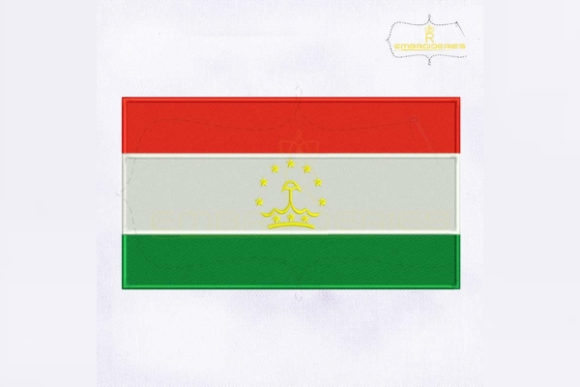 Tajikistan Flag Asia Embroidery Design By RoyalEmbroideries