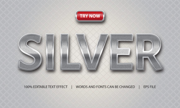 Print on Demand: Text Effect - Silver and Luxury Graphic Backgrounds By be young