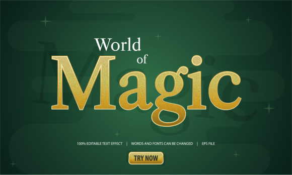 Download Free Text Effect World Of Magic Graphic By Be Young Creative Fabrica for Cricut Explore, Silhouette and other cutting machines.
