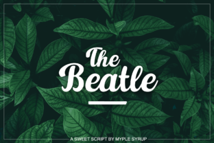 Print on Demand: The Beatle Script & Handwritten Font By maplesyruptype