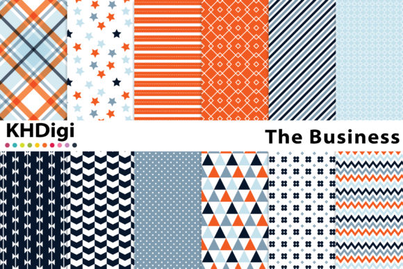 Print on Demand: The Business Digital Paper Graphic Backgrounds By KHDigi