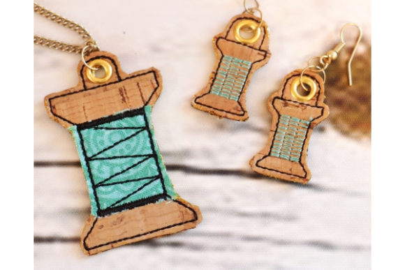 Thread Charm Accessorios Diseños de bordado Por Sue O'Very Designs