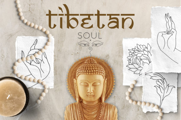 Download Free Tibetan Soul Graphic By Draw Wind Zen Creative Fabrica for Cricut Explore, Silhouette and other cutting machines.