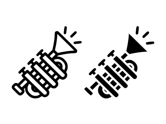Download Free Tuba Line And Glyph Icon Graphic By Anrasoft Creative Fabrica for Cricut Explore, Silhouette and other cutting machines.