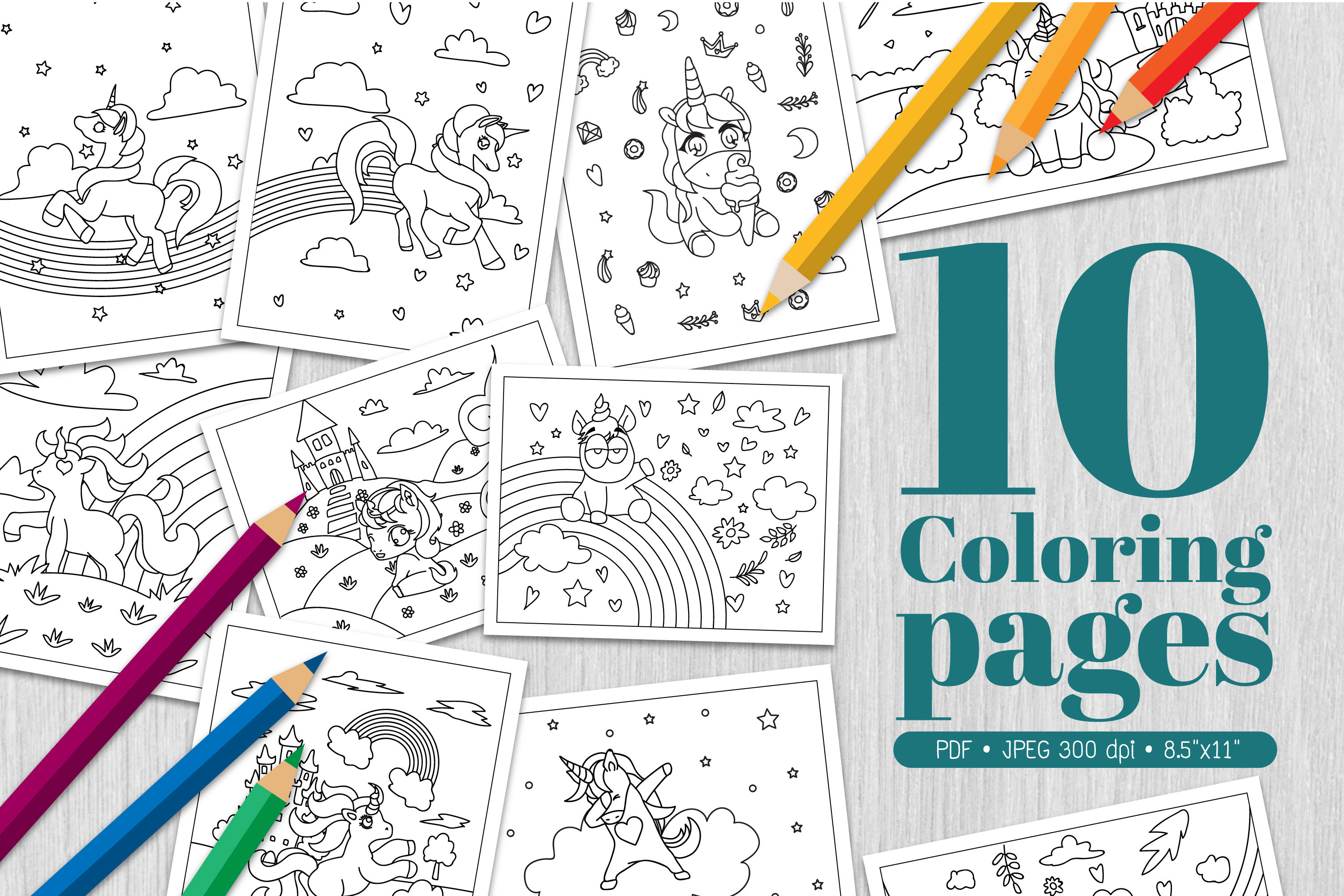 Unicorn Coloring Page Graphic By Euphoria Design Creative Fabrica