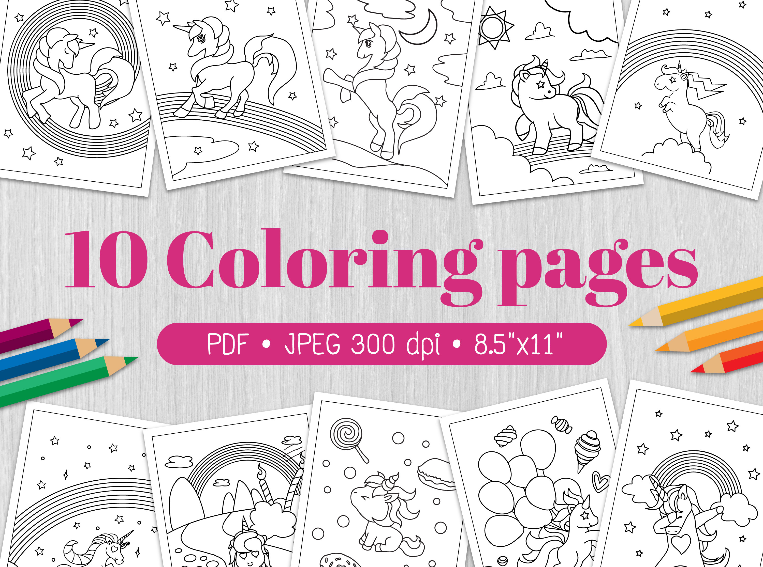 Download Free Unicorn Coloring Page Graphic By Euphoria Design Creative Fabrica SVG Cut Files