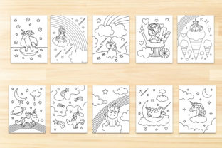 UnicornKids Coloring Page Graphic Coloring Pages & Books Kids By Euphoria Design 2