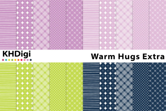 Download Free Warm Hugs Extra Digital Paper Graphic By Khdigi Creative Fabrica for Cricut Explore, Silhouette and other cutting machines.