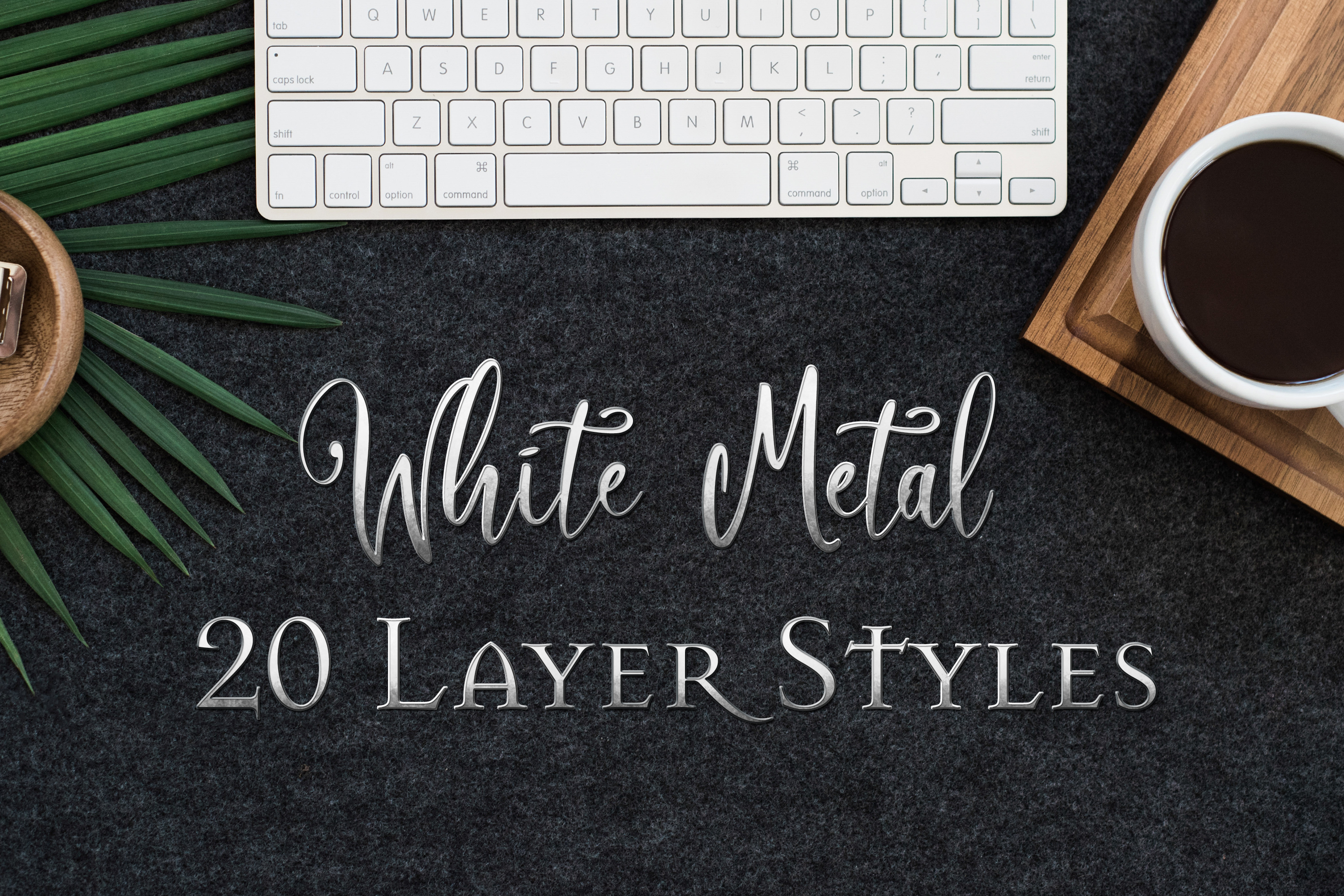 Download Free White Metal 20 Layer Styles For Ps Graphic By Sapphirexdesigns for Cricut Explore, Silhouette and other cutting machines.