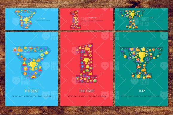 Download Free Winner Greetings Banners Set Graphic By Barsrsind Creative Fabrica for Cricut Explore, Silhouette and other cutting machines.