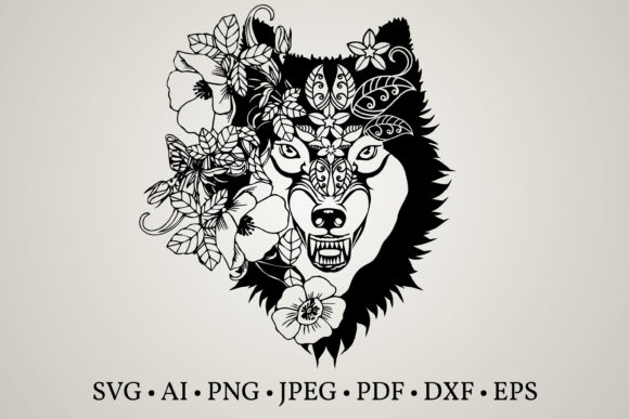 Download Free Wolf Clipart Graphic By Euphoria Design Creative Fabrica for Cricut Explore, Silhouette and other cutting machines.