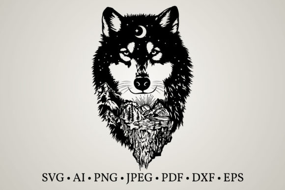 Wolf Clipart  Graphic Print Templates By Euphoria Design