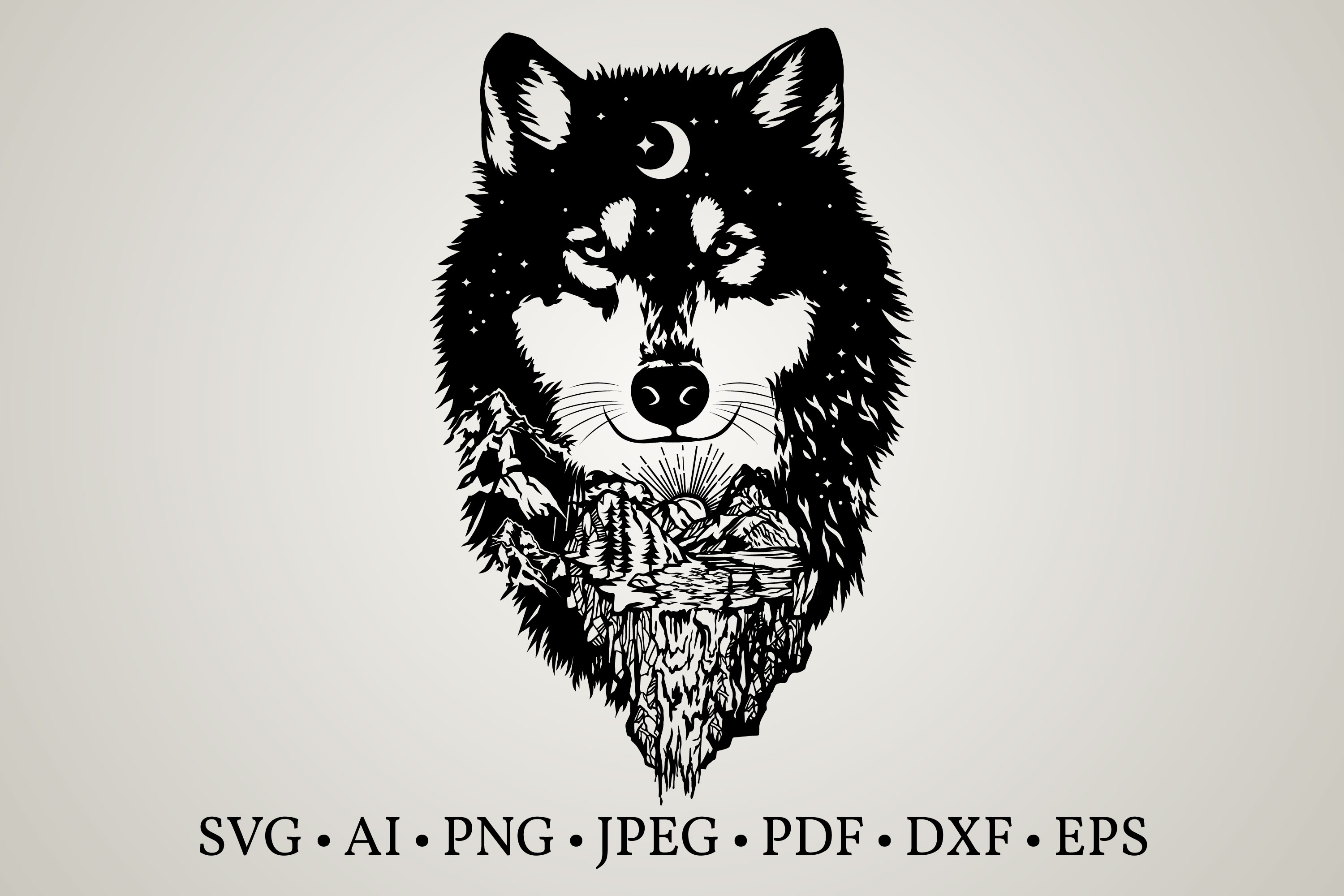 Wolf Clipart SVG File