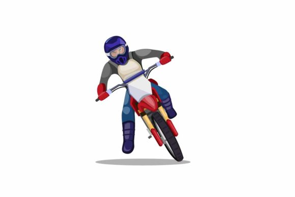 Download Free Man Riding Motocross Dirt Bike Vector Graphic By Aryo Hadi for Cricut Explore, Silhouette and other cutting machines.