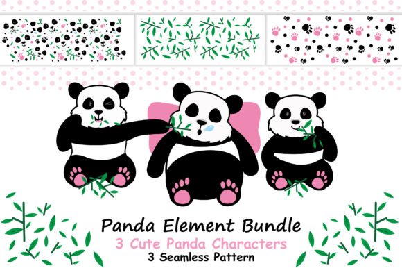 Panda Element Bundle Graphic Illustrations By ABs