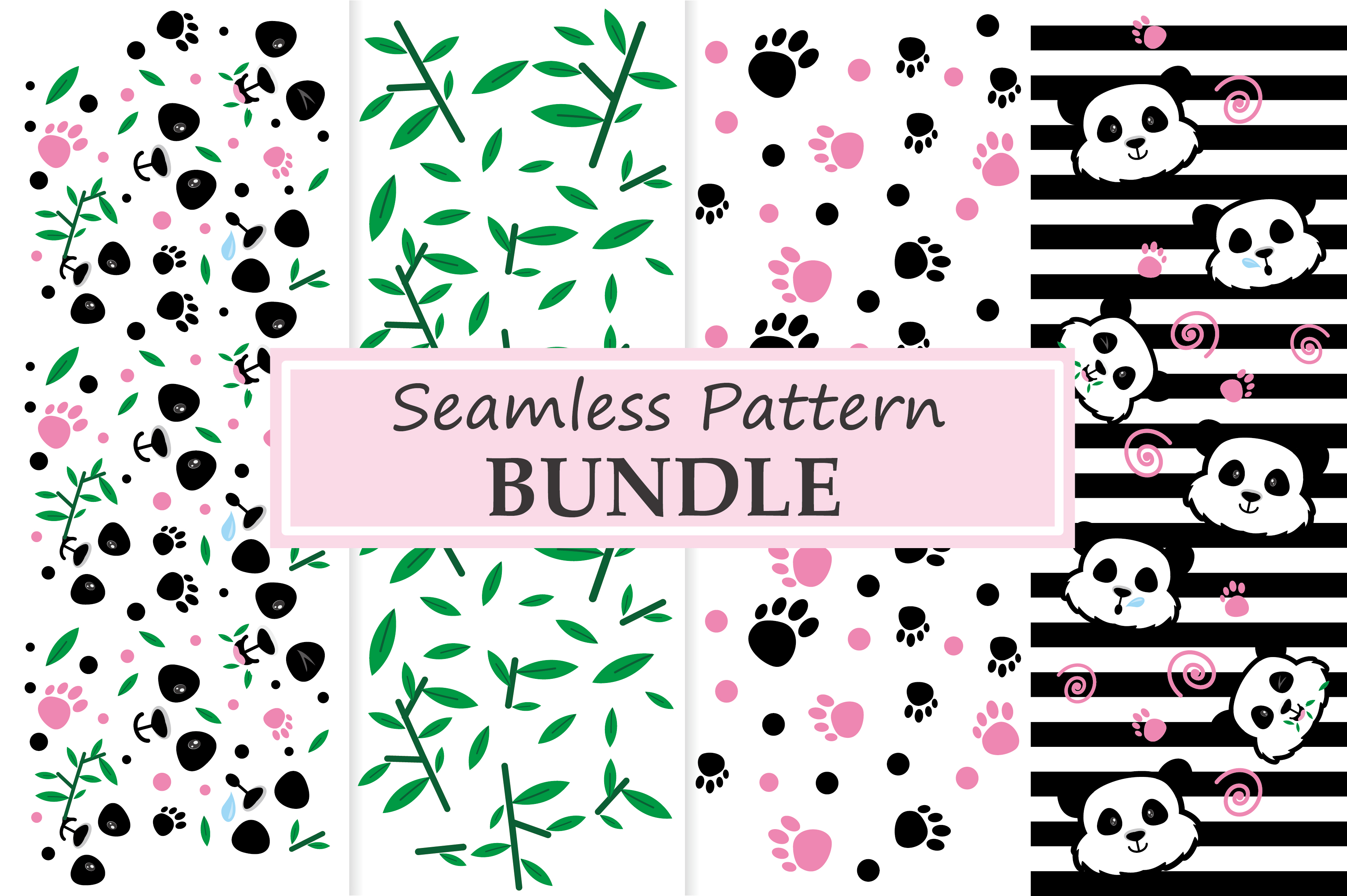 Download Free Panda Element Patterns Graphic By Abs Creative Fabrica for Cricut Explore, Silhouette and other cutting machines.