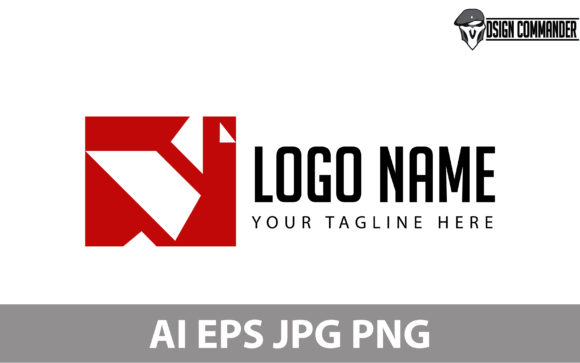 Template Logo Floding Paper Origami Graphic By Designcommander62
