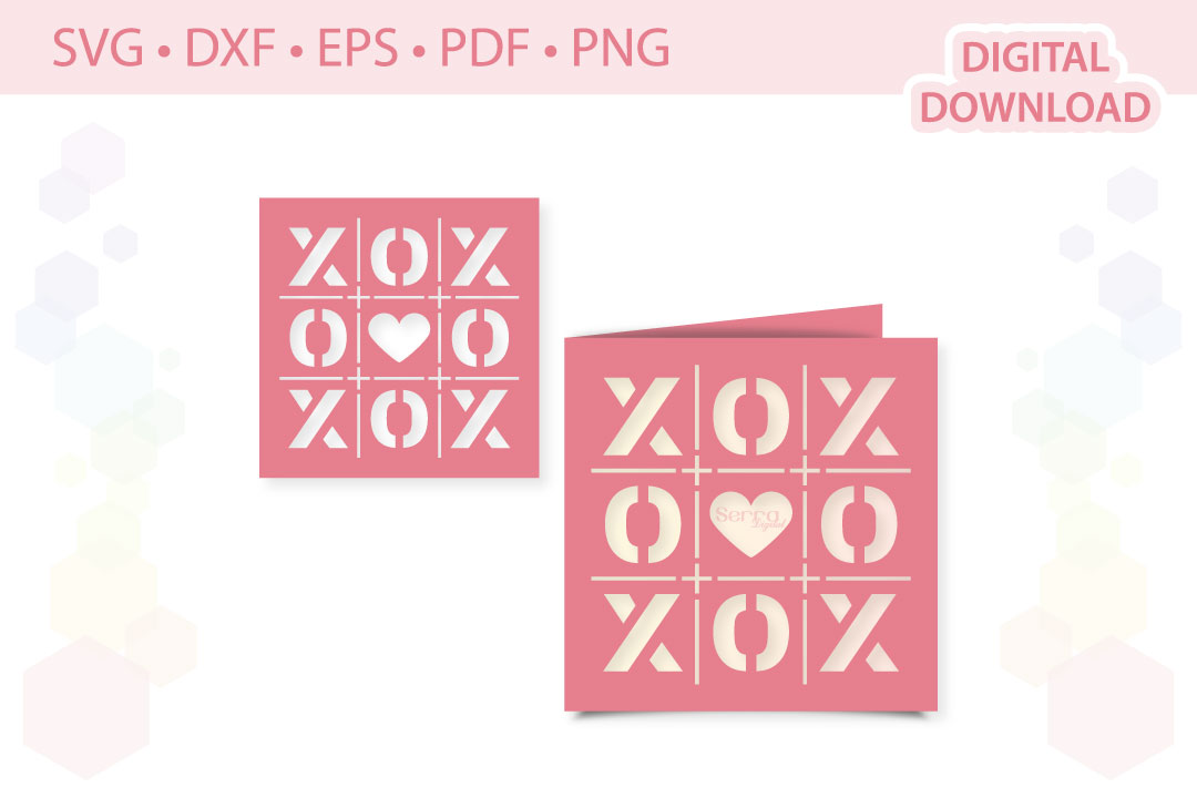 Download Free Xoxo Card Wedding Invitation Cut File Graphic By Serradigital for Cricut Explore, Silhouette and other cutting machines.