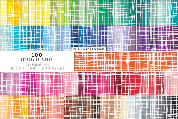 100 Crosshatched Pattern Papers Graphic Backgrounds By clipheartcreations