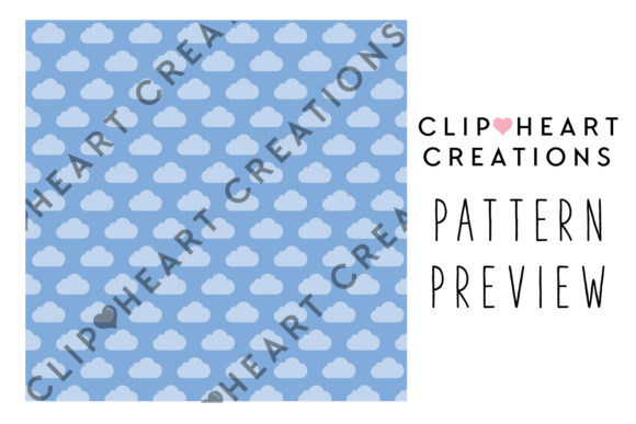 Download Free 100 Tinted Cloud Pattern Papers Graphic By Clipheartcreations for Cricut Explore, Silhouette and other cutting machines.