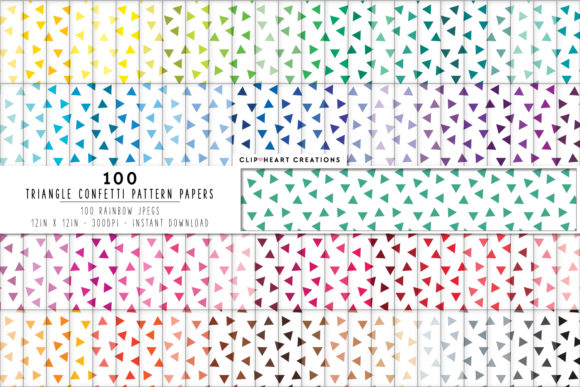 Download Free 100 Triangle Pattern Papers Graphic By Clipheartcreations for Cricut Explore, Silhouette and other cutting machines.