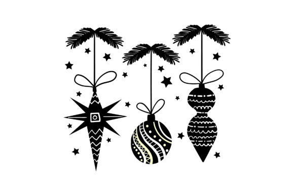 Download Free Mid Century Christmas Ornament Svg Cut File By Creative Fabrica for Cricut Explore, Silhouette and other cutting machines.