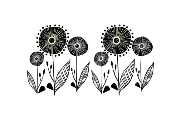 Mid Century Floral Design Designs & Drawings Craft Cut File By Creative Fabrica Crafts - Image 2