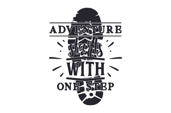 Download Free Adventure Starts With One Step Svg Cut File By Creative Fabrica for Cricut Explore, Silhouette and other cutting machines.