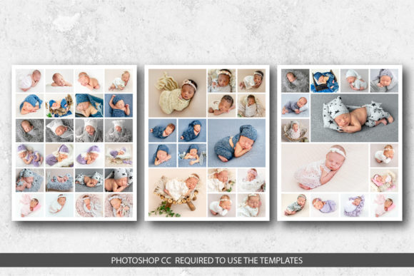 Photo Collage Templates Graphic Print Templates By DesignCafeArt